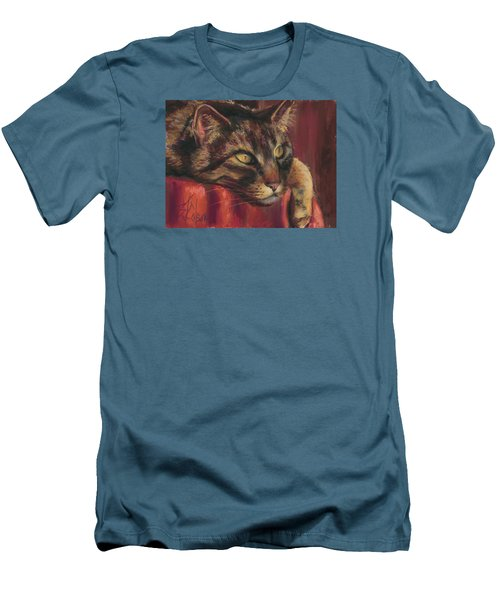 Tabby Nap Men's T-Shirt (Slim Fit) by Billie Colson