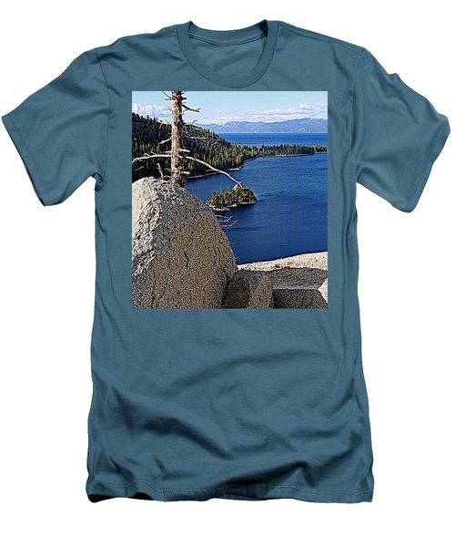 Tahoe Blue Men's T-Shirt (Athletic Fit)