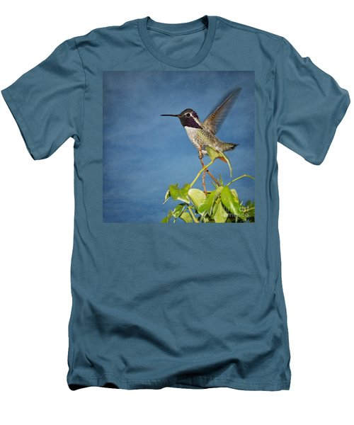 Men's T-Shirt (Slim Fit) featuring the photograph Taking Flight by Peggy Hughes