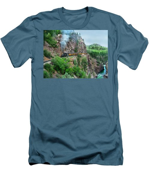 Taking The Highline Home Men's T-Shirt (Slim Fit) by Ken Smith