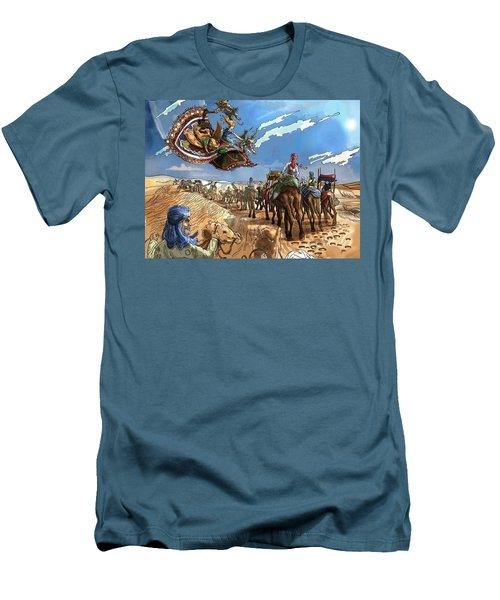 Men's T-Shirt (Slim Fit) featuring the painting Tammy And The Flying Carpet by Reynold Jay