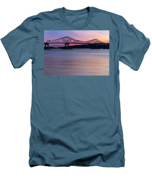 Tappan Zee Bridge Sunset Men's T-Shirt (Athletic Fit)