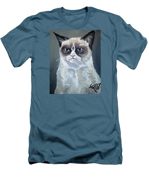 Tard - Grumpy Cat Men's T-Shirt (Athletic Fit)
