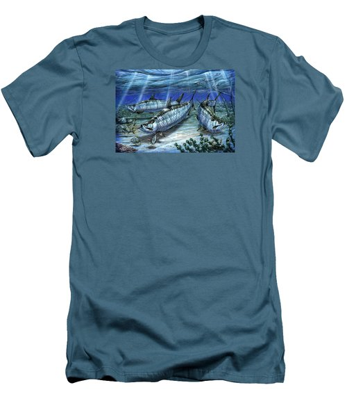 Tarpon In Paradise - Sabalo Men's T-Shirt (Athletic Fit)