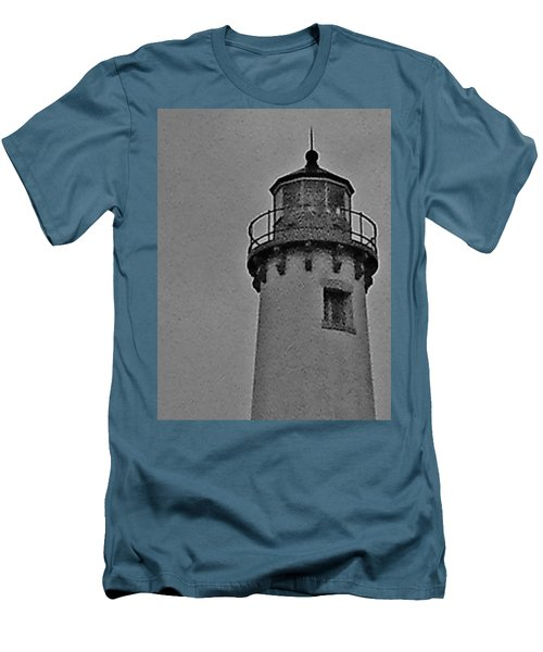 Men's T-Shirt (Slim Fit) featuring the photograph Tawas Point In The Rain by Daniel Thompson