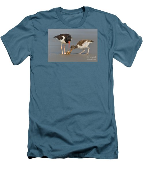 Men's T-Shirt (Slim Fit) featuring the photograph Teaching The Young by Jerry Fornarotto
