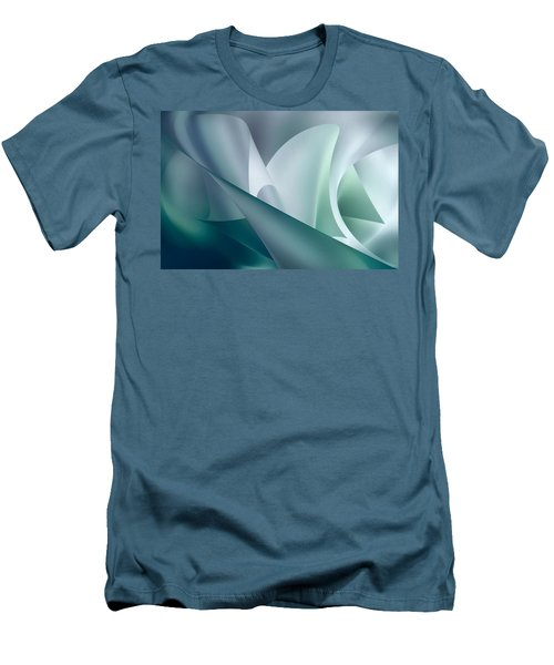 Teal Beam Men's T-Shirt (Athletic Fit)
