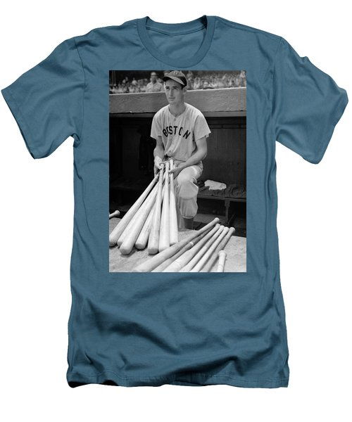 Ted Williams Men's T-Shirt (Slim Fit) by Gianfranco Weiss