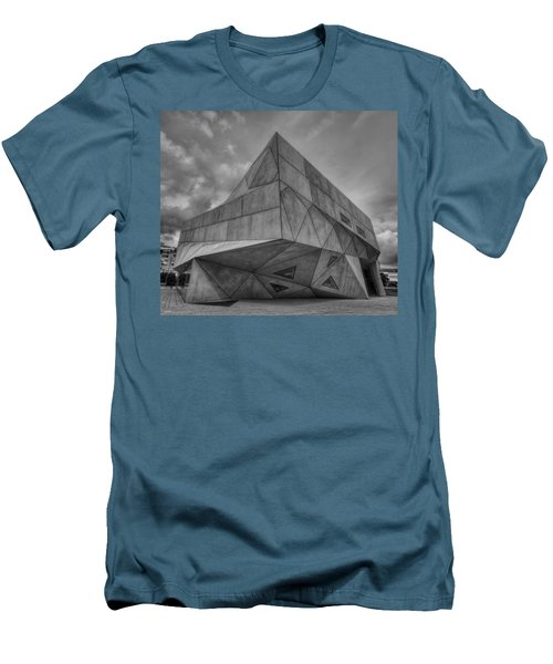 Men's T-Shirt (Slim Fit) featuring the photograph Tel Aviv Museum  by Ron Shoshani