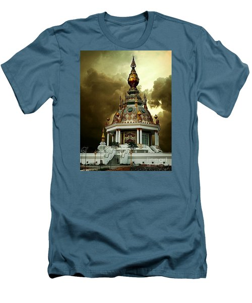 Temple Of Clouds  Men's T-Shirt (Slim Fit) by Ian Gledhill