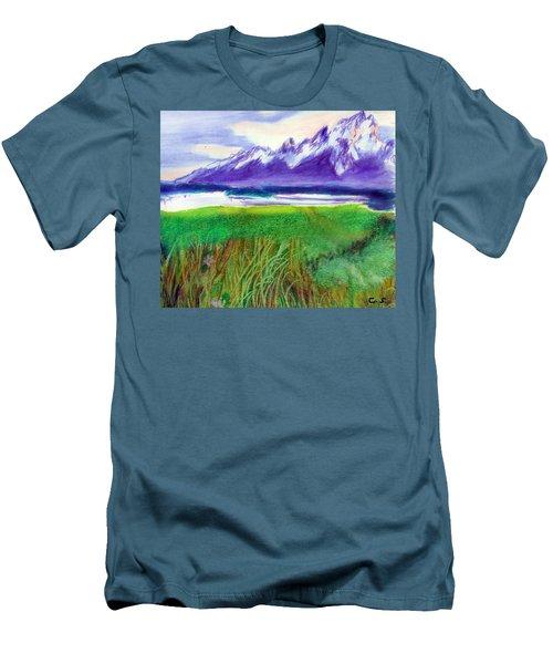 Teton View Men's T-Shirt (Slim Fit) by C Sitton