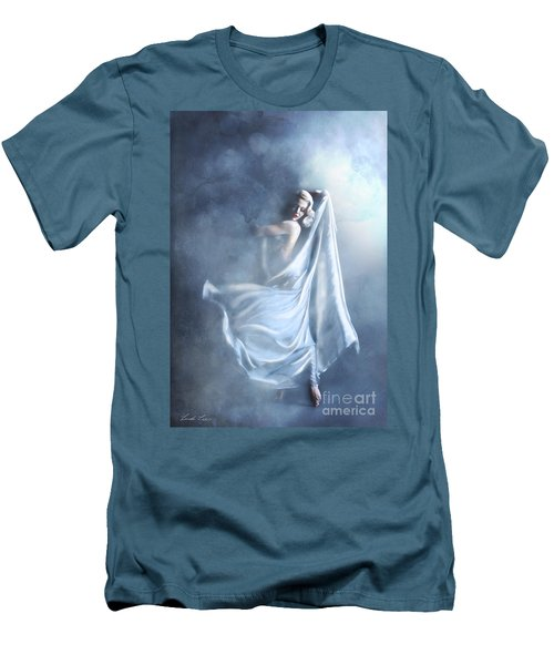 Men's T-Shirt (Slim Fit) featuring the digital art That Single Fleeting Moment When You Feel Alive by Linda Lees