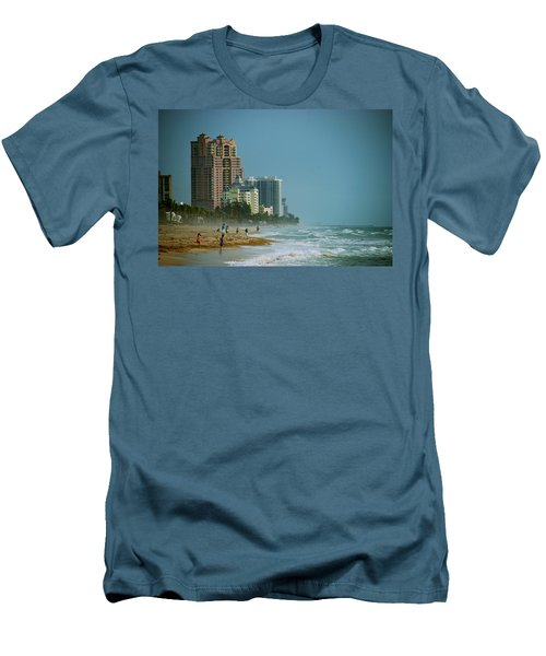 The Beach Near Fort Lauderdale Men's T-Shirt (Athletic Fit)