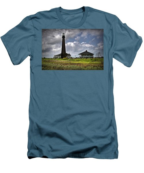 The Bolivar Lighthouse Men's T-Shirt (Slim Fit) by Linda Unger