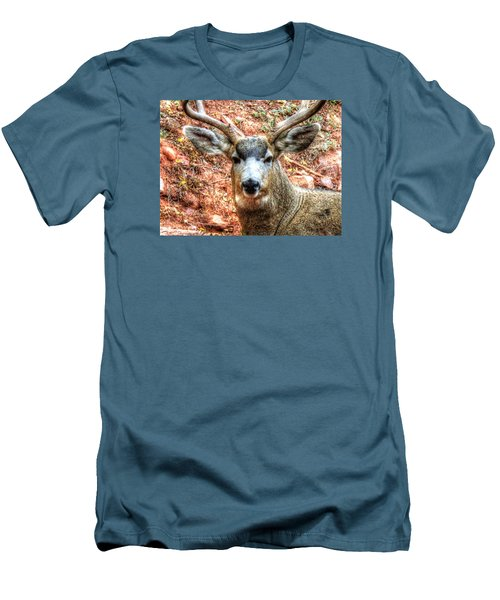 Men's T-Shirt (Slim Fit) featuring the photograph The Buck I by Lanita Williams
