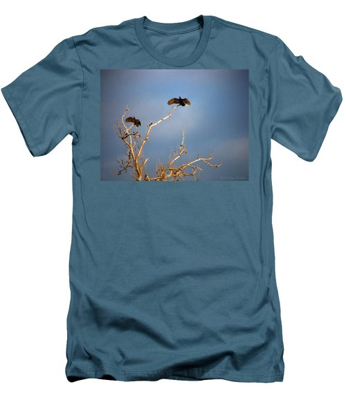 The Buzzard Roost Men's T-Shirt (Slim Fit) by Joyce Dickens