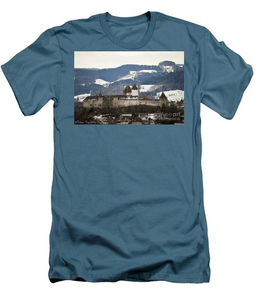 The Castle In Winter Look Men's T-Shirt (Athletic Fit)