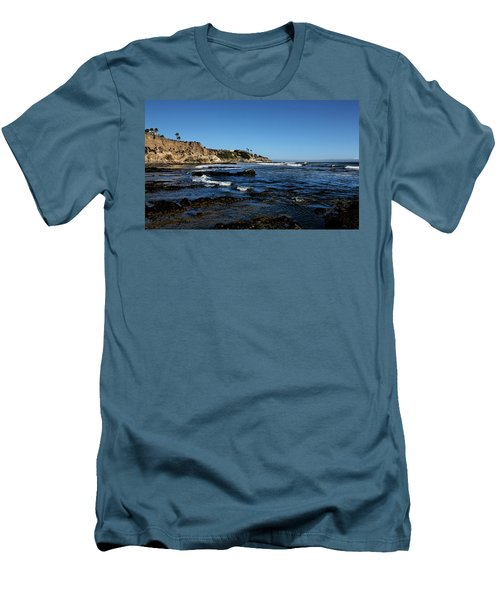 The Cliffs Of Pismo Beach Men's T-Shirt (Slim Fit) by Judy Vincent