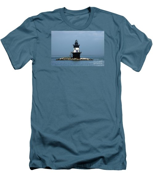 The Coffee Pot Lighthouse Men's T-Shirt (Slim Fit) by Christiane Schulze Art And Photography
