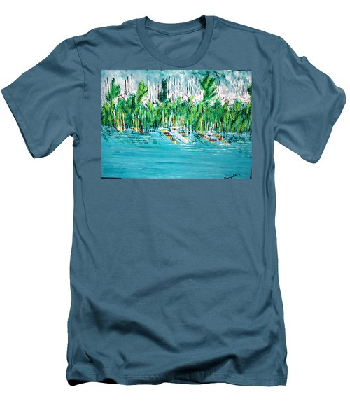 The Docks Men's T-Shirt (Slim Fit) by George Riney