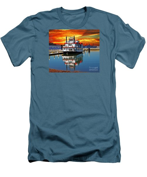 The End Of A Beautiful Day In The San Francisco Bay Men's T-Shirt (Slim Fit) by Jim Fitzpatrick