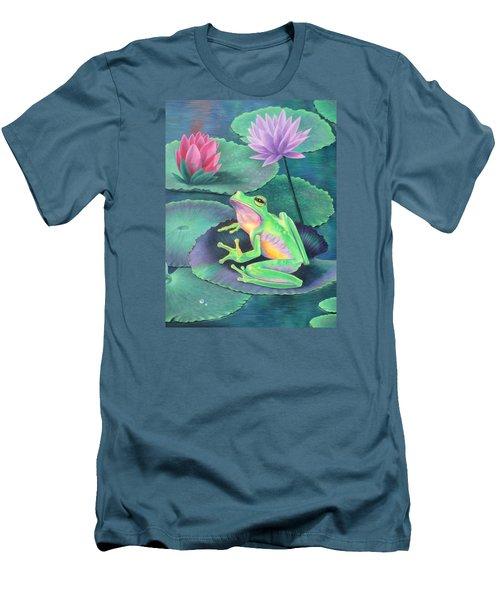 The Frog Men's T-Shirt (Slim Fit) by Vivien Rhyan