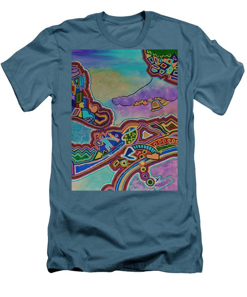 The Genie Is Out Of The Bottle Men's T-Shirt (Slim Fit) by Barbara St Jean