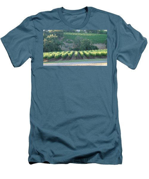 Men's T-Shirt (Slim Fit) featuring the photograph The Grape Lines by Shawn Marlow