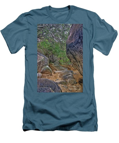 Men's T-Shirt (Slim Fit) featuring the photograph The Guide by Olga Hamilton