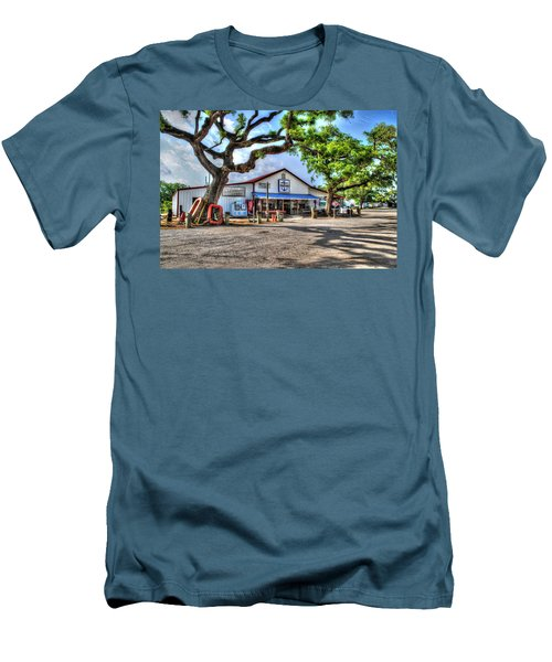 Men's T-Shirt (Slim Fit) featuring the digital art The Hardware Store by Michael Thomas