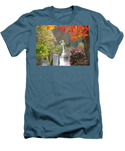 The Holy Cross Men's T-Shirt (Slim Fit) by Michael Krek
