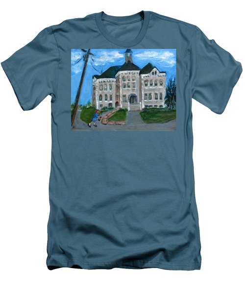 The Last Bell At West Hill School Men's T-Shirt (Slim Fit) by Betty Pieper