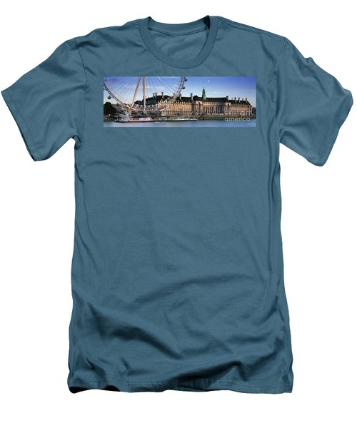 The London Eye And County Hall Men's T-Shirt (Athletic Fit)