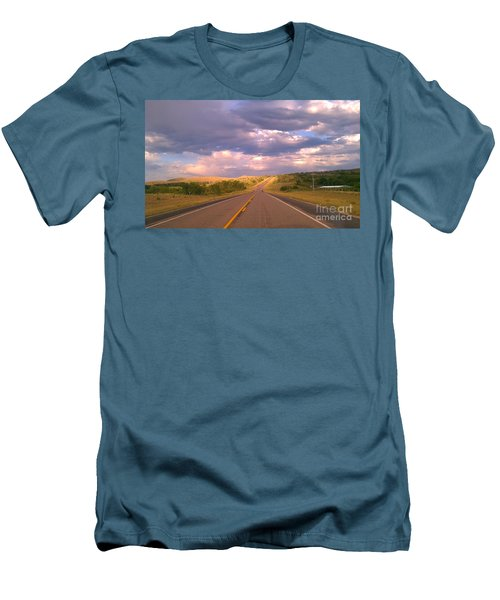 Men's T-Shirt (Slim Fit) featuring the photograph The Long Road Home by Chris Tarpening