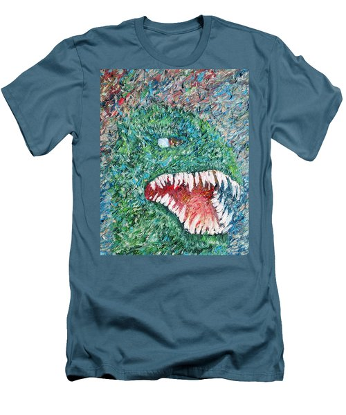 The Might That Came Upon The Earth To Bless - Godzilla Portrait Men's T-Shirt (Slim Fit) by Fabrizio Cassetta