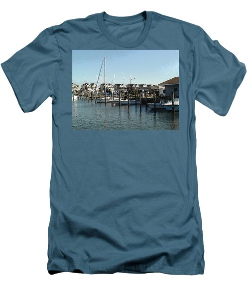 Men's T-Shirt (Slim Fit) featuring the photograph The Narrows by Charles Kraus