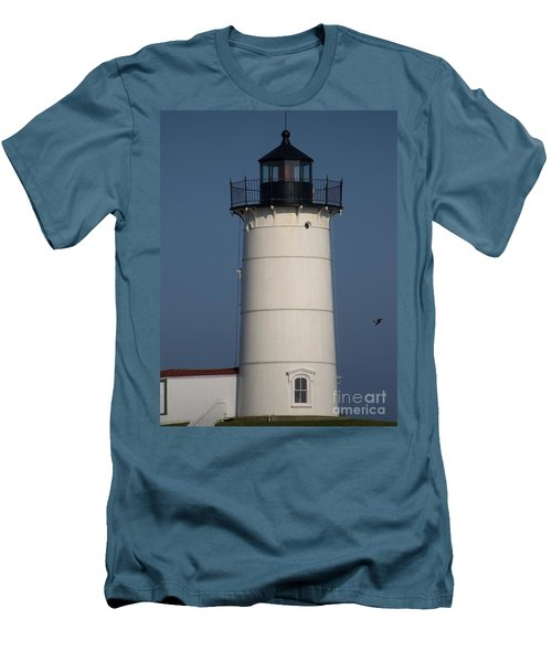 Men's T-Shirt (Slim Fit) featuring the photograph Lighthouse by Eunice Miller