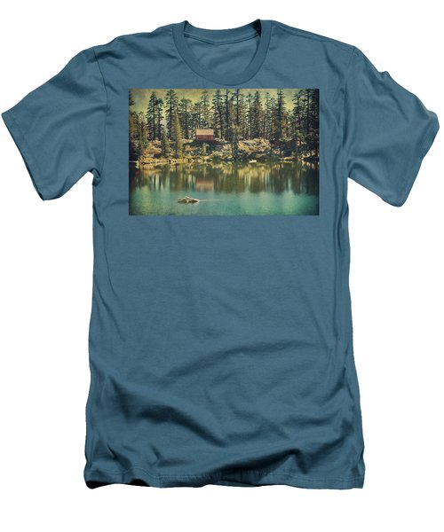 The Old Days By The Lake Men's T-Shirt (Slim Fit) by Laurie Search