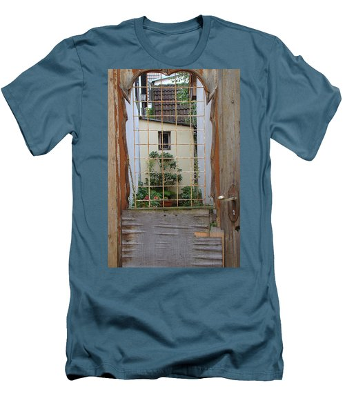 Memories Made Beyond This Old Door Men's T-Shirt (Athletic Fit)