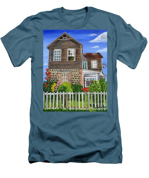 Men's T-Shirt (Slim Fit) featuring the painting The Old House by Laura Forde