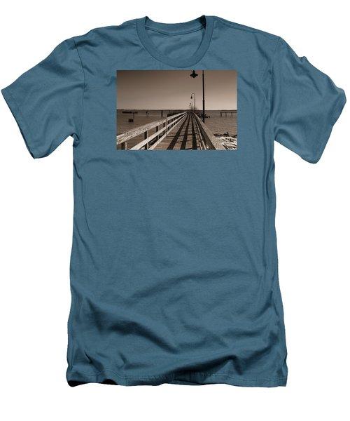 The Pier Men's T-Shirt (Slim Fit) by David Jackson