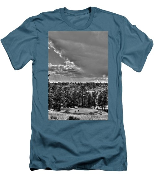 Men's T-Shirt (Slim Fit) featuring the photograph The Ridge Golf Course by Ron White