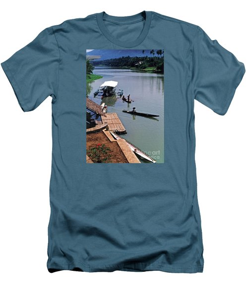 The River Leading To Pagsanjan Falls In The Philippines Men's T-Shirt (Slim Fit) by Jim Fitzpatrick