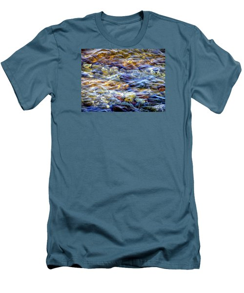 Men's T-Shirt (Slim Fit) featuring the photograph The River by Susan  Dimitrakopoulos