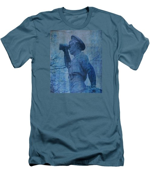 The Seaman In Blue Men's T-Shirt (Slim Fit) by Lesa Fine