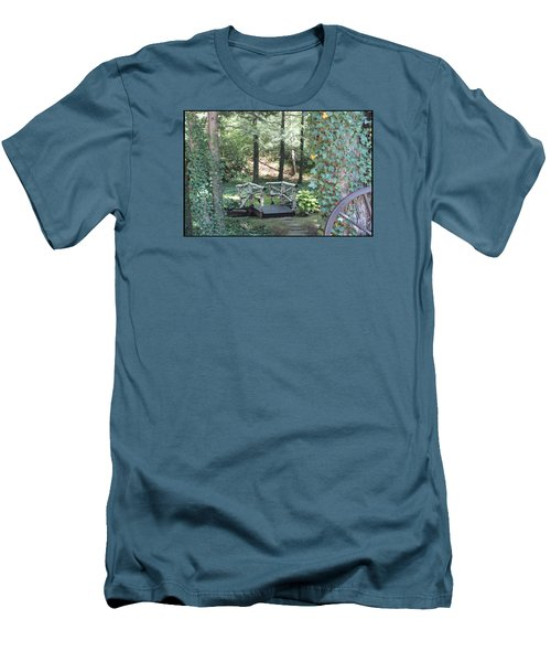 Men's T-Shirt (Slim Fit) featuring the photograph The Path by Debra     Vatalaro