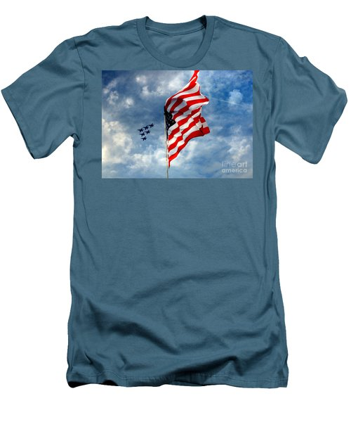 The Star Spangled Banner Yet Waves Men's T-Shirt (Slim Fit) by Lydia Holly