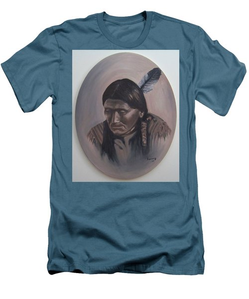 Men's T-Shirt (Slim Fit) featuring the painting The Story Teller by Michael  TMAD Finney