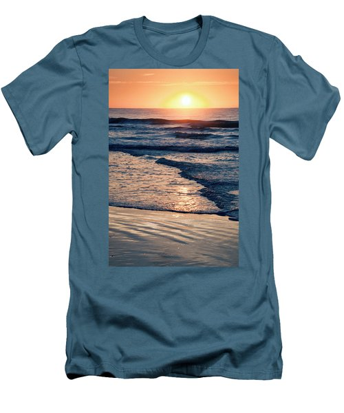 Sun Rising Over The Beach Men's T-Shirt (Athletic Fit)