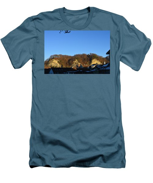 Men's T-Shirt (Slim Fit) featuring the photograph The Three Stones From Burgdorf by Felicia Tica